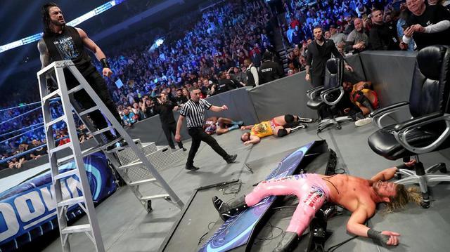 画像: レインズが因縁のコービン&ジグラーに報復のスーパーマンパンチ【12・13 WWE】