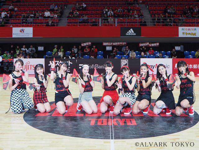 画像: Girls2がライブパフォーマンスで応援! Bリーグのアルバルク東京が2020年初勝利