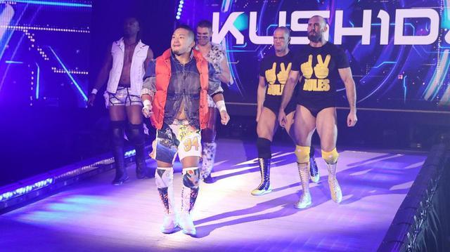 画像: KUSHIDAが205 Liveにサプライズ登場【3・13 WWE】