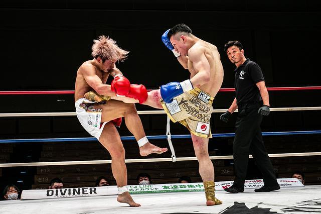 画像: 吉岡ビギンが前王者・晃貴から4つのダウンを奪い圧勝【3・28 Krush.112】