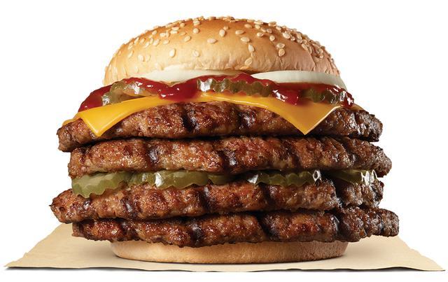 画像: バーガーキングがはみでる新バーガー『ストロング超ワンパウンドビーフバーガー』を発売