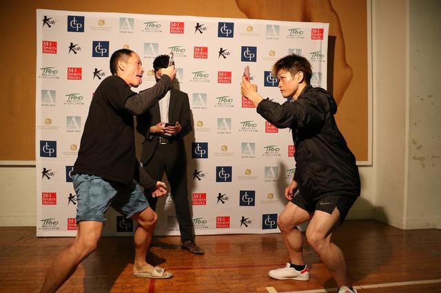 画像: 対戦する堀井と金子が異例の合同公開練習。最後はカメラボクシングで前哨戦【6・28 Krush.113】