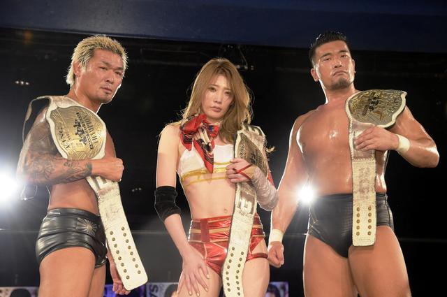 画像: 赤井沙希がKO-D6人タッグ王座に涙の初戴冠。7・3新宿で里村明衣子との七番勝負最終戦も決定【DDT】