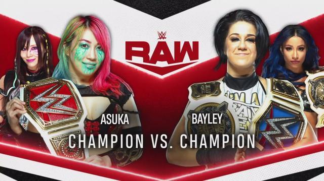 """画像: アスカとベイリーが次回のロウで""""女子王者対決""""【WWE】"""