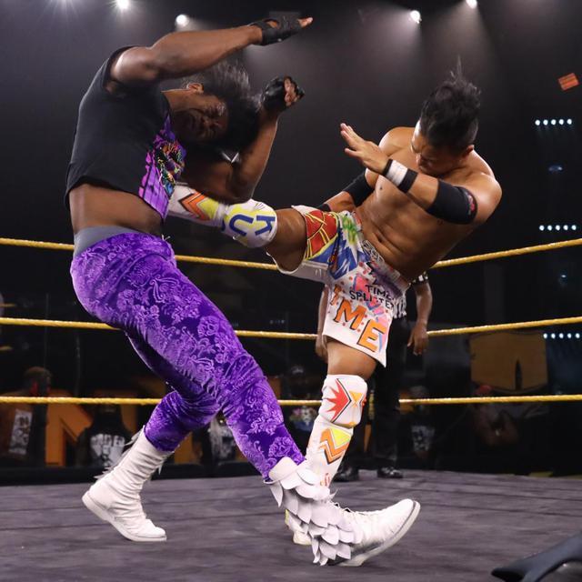 画像: KUSHIDAが三つ巴予選で惜敗。北米王座決定ラダー戦出場ならず【WWE NXT】