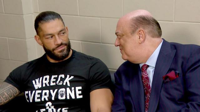 画像: ポール・ヘイマンがローマン・レインズの横にサプライズ登場【WWE】