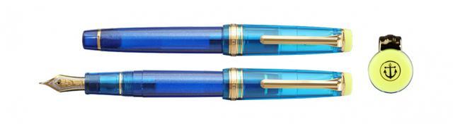 画像: 瀬戸内海のブルーと瀬戸内レモンのイエローを配した万年筆「クレ・アジュール」誕生