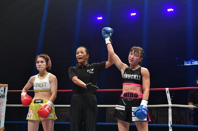 画像: 高梨がK-1デビュー戦のMIOに判定勝ち。「思っていたより強さは感じられなかった」【K-1大阪】