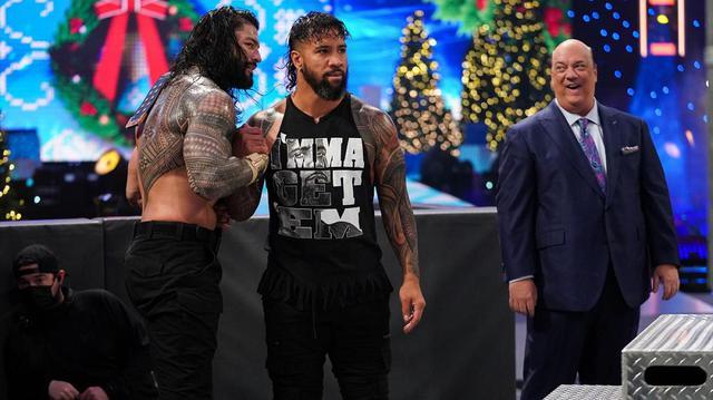 画像: ユニバーサル王者レインズがジェイの介入でオーエンズを相手に王座防衛【WWE】