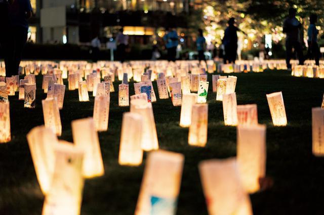 画像: 約1万個のキャンドルが六本木に灯る「和紙キャンドルガーデンーTOHOKU 2021ー」