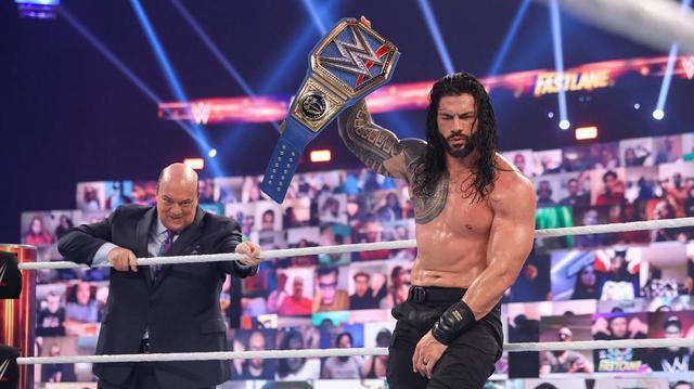 画像: タップアウトの王者レインズが疑惑の王座防衛【WWE】