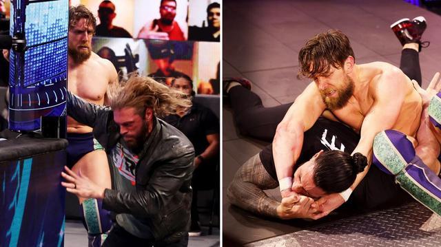 """画像: ブライアンがRR戦覇者エッジ、王者レインズを襲撃して""""イエス""""連呼【WWE】"""