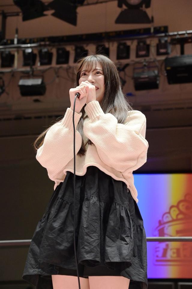 画像: 5・4後楽園で本格デビューのSKE48荒井優希がリング上からあいさつ【4・17 東京女子プロレス】