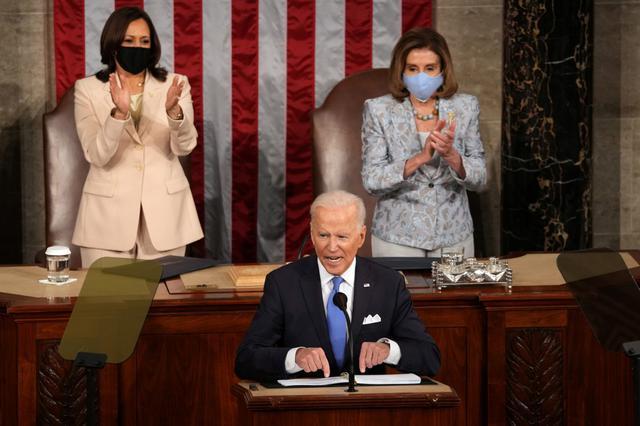 画像: 厳戒態勢の中バイデン大統領が演説