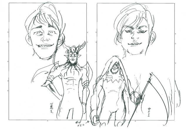 画像: 「七つの大罪」原作者が麒麟・川島とノンスタ井上に寄せた魔神の設定画を初公開!