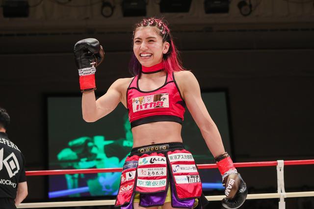 画像: 1RKO勝ちで復活のぱんちゃん璃奈「これから階級が上のチャンピオンと戦っていきたい」【KNOCK OUT】