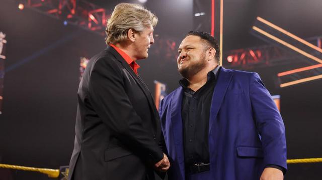 画像: サモア・ジョーが電撃復帰。リーガルGMの強面アシスタントに就任【WWE NXT】