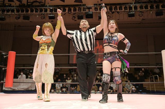 画像: 米国の大手団体AEWから帰国の坂崎ユカが凱旋勝利。「帰ってきたら、みんなたくましくなってるな」【東京女子プロレス】