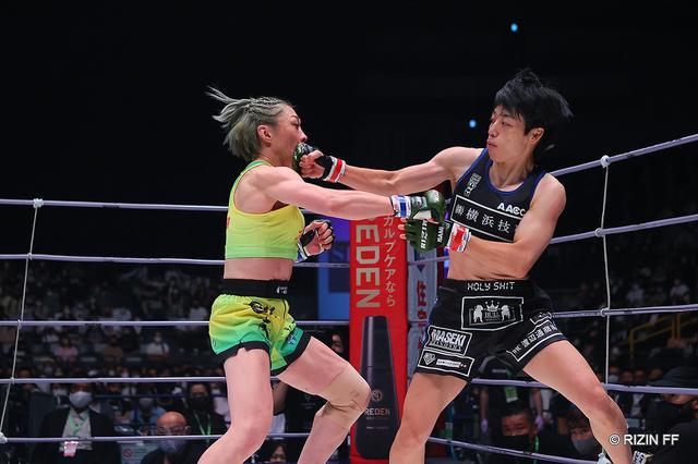 画像: 浜崎朱加が藤野恵実に判定勝ち「親方と戦えてよかった」【RIZIN】