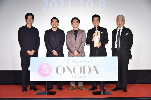 画像: 映画『ONODA』遠藤雄弥、津田寛治が劇場を埋め尽くす観客に凱旋報告!