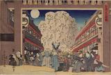 画像: 歌川国貞「北廓月の夜桜」 toshifujiwara.blogspot.jp