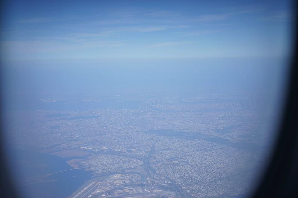 画像: JFK国際空港着陸前