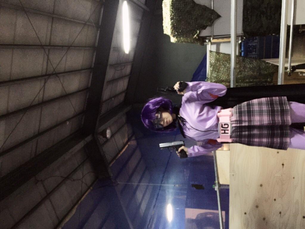 画像: キックアスのヒットガールコスプレをした生田晴香