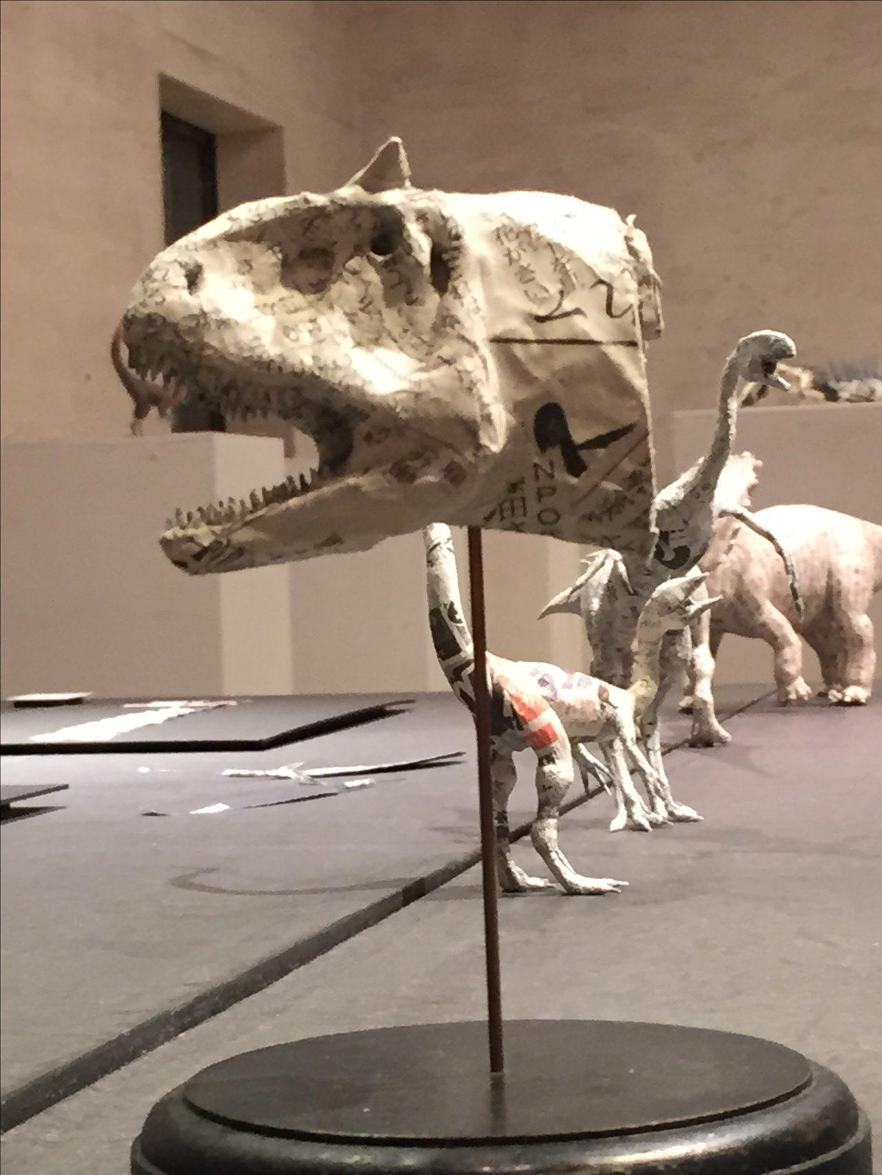 画像: カルノタウルスの頭。