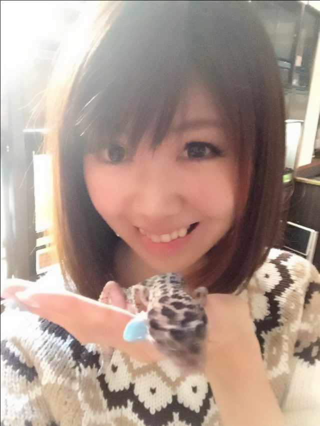 画像: クリスマスも爬虫類と戯れていたい、生田晴香です。