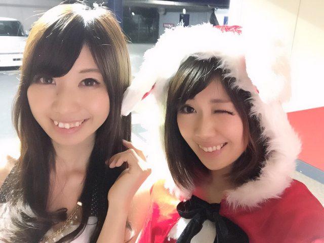 画像: ウサ耳付きのクリスマスっぽいコスプレしてみました、生田晴香です。