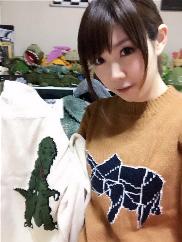 画像: 恐竜ニットを買いました、生田晴香です。