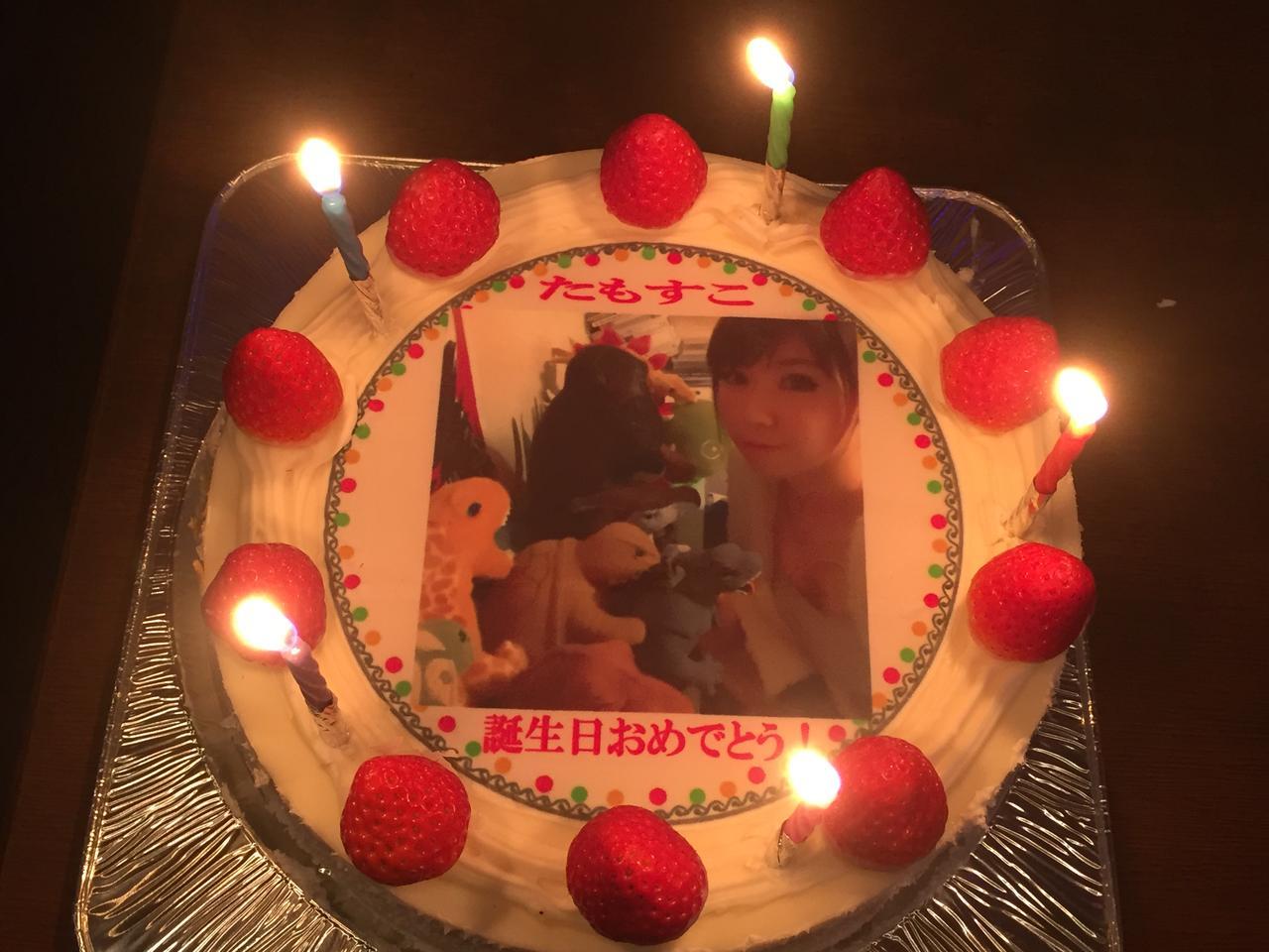 画像: 3/27は生田晴香の誕生日なので写真ケーキで祝ってもらいました、たもすここと生田晴香でした。