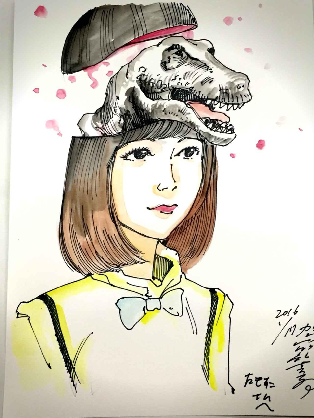 画像: 頭の中は恐竜でいっぱい!駕籠真太郎大先生に特殊似顔絵描いてもらいました。
