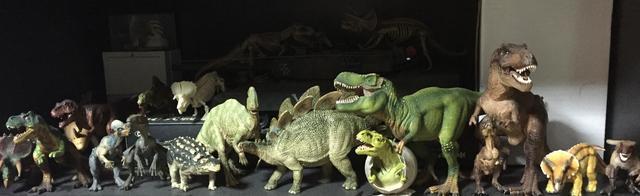 画像: 生田家の恐竜フィギュア達。