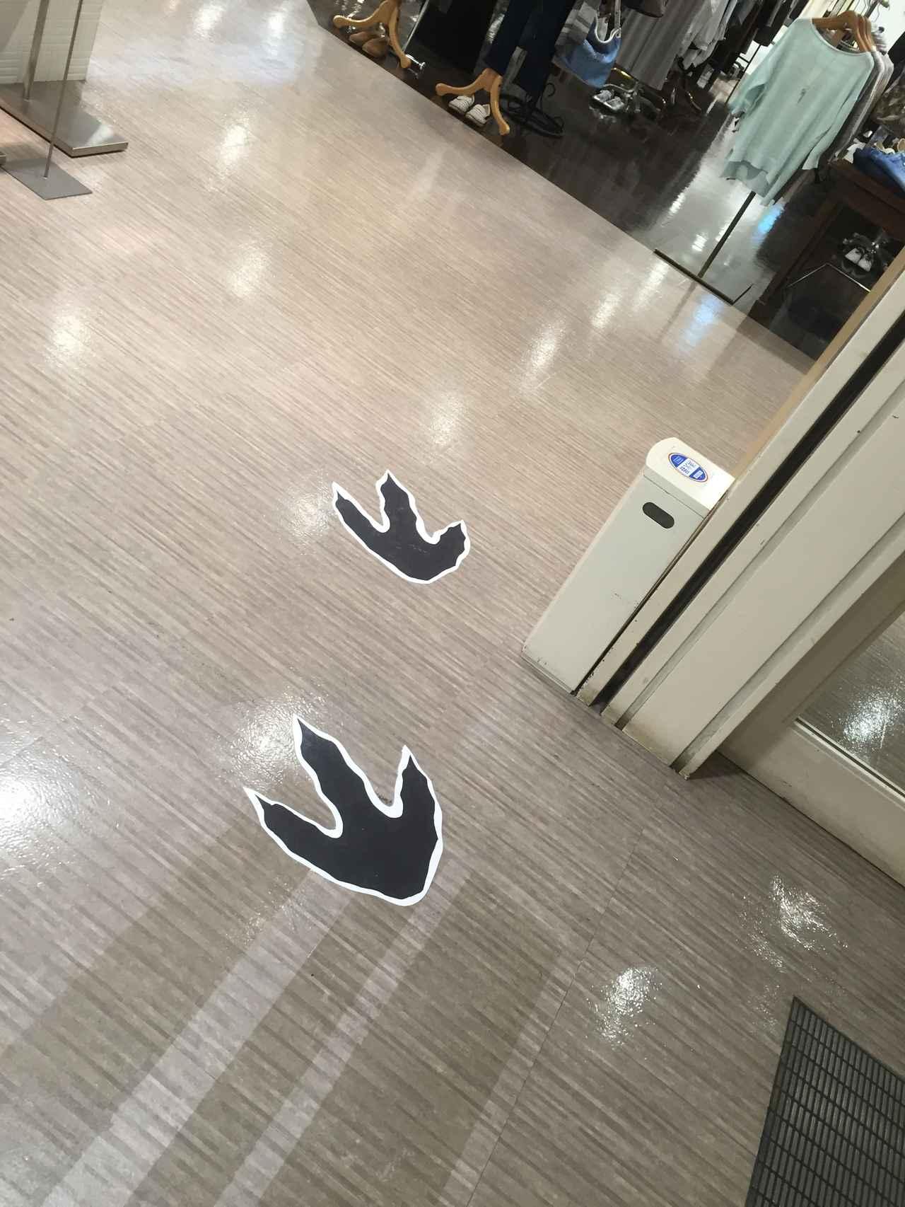 画像: 恐竜の足跡があるのでスタンプの場所がわかりやすい!