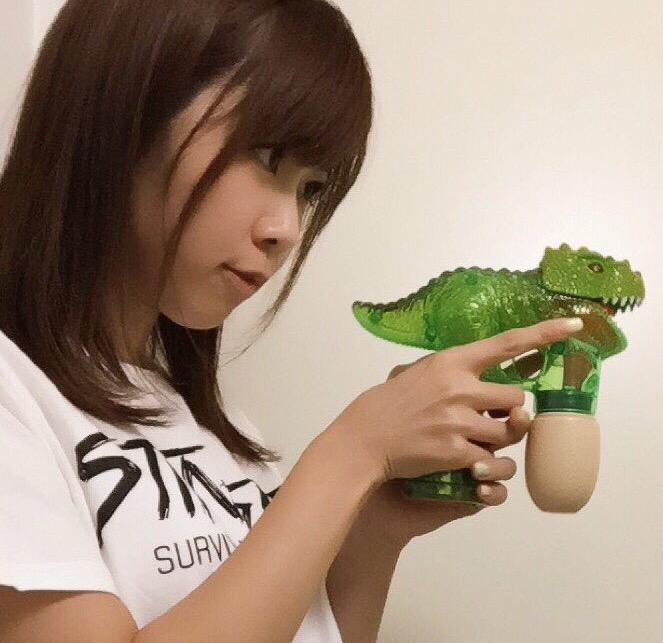 画像: ギガ恐竜展2017のグッズショップで購入、バブルガン! haruru327.militaryblog.jp