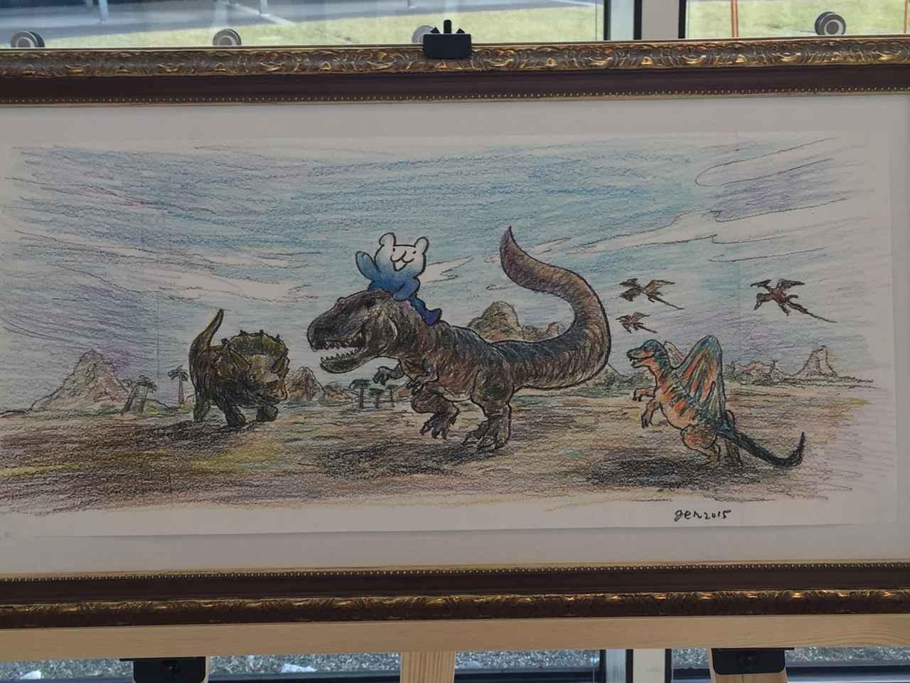 画像: 東京ガスのパッチョ原画展に恐竜が…!!