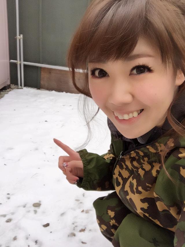 画像: 雪!