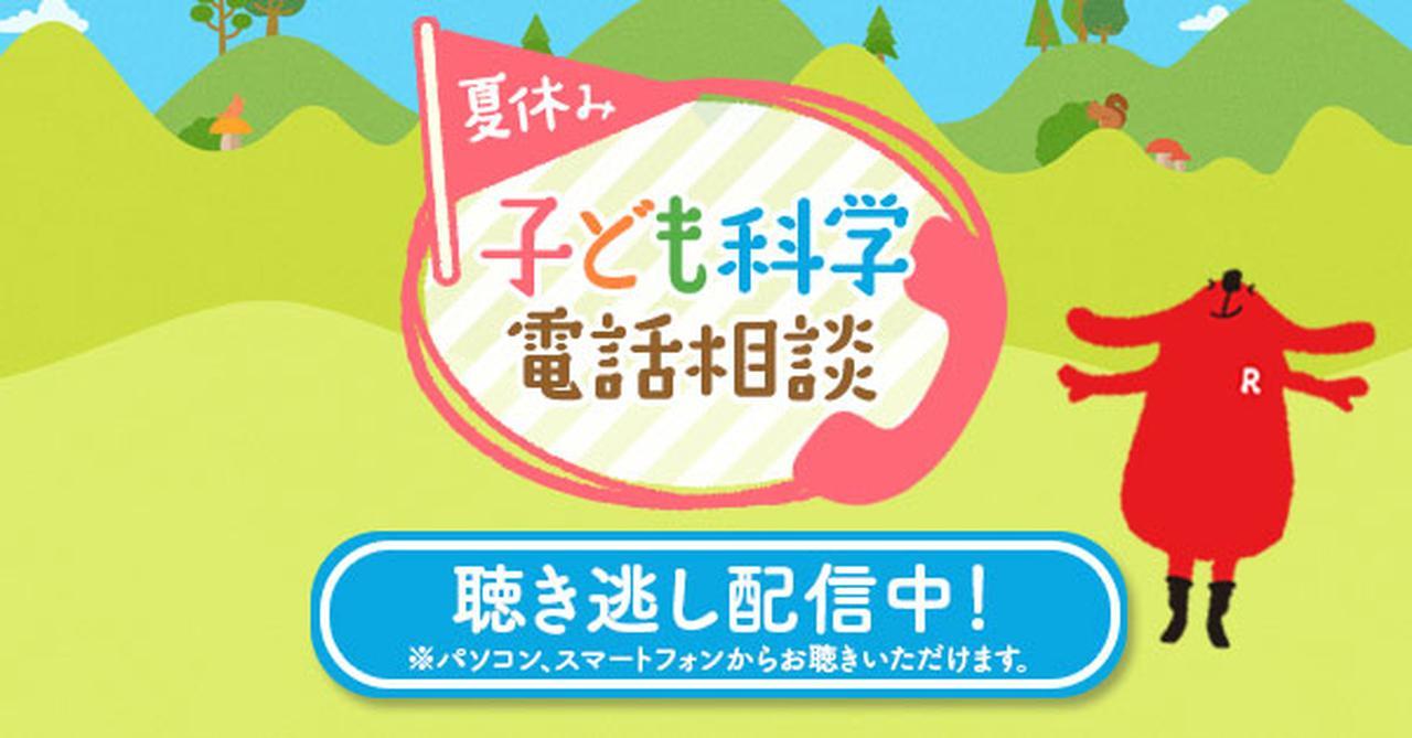 画像: NHK 夏休み子ども科学電話相談