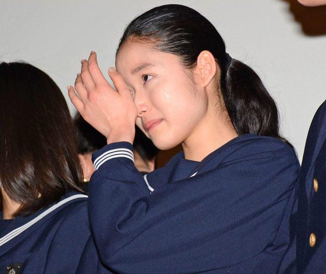 画像: デビュー作映画『ソロモンの偽証 前篇・事件』初日舞台あいさつに、新人女優・藤野涼子、大粒の涙!