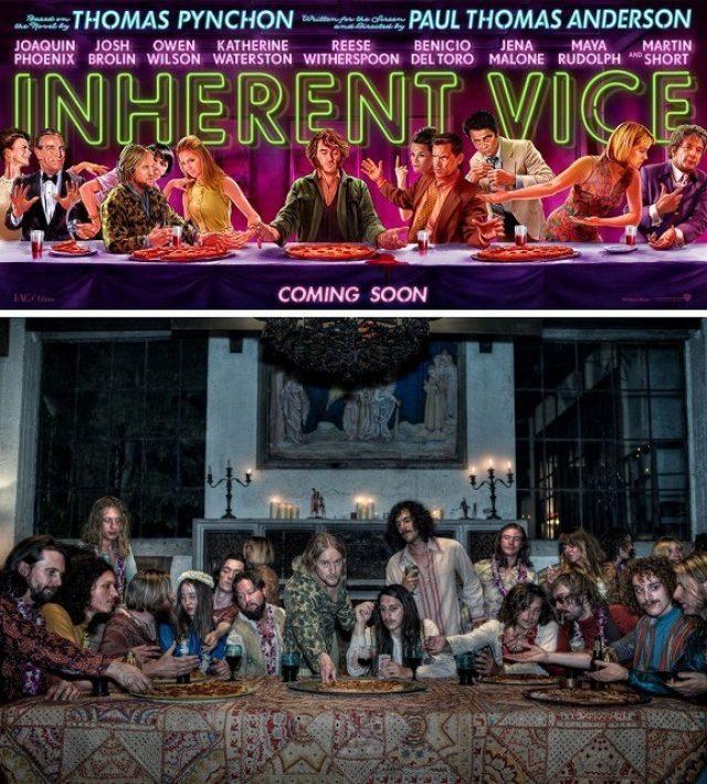 画像1: 天才3人が生み出す超いかした70年代ポップ・カルチャーを再現した『インヒアレント・ヴァイス』。「最後の晩餐」をモチーフにしたキャラクタービジュアル公開!