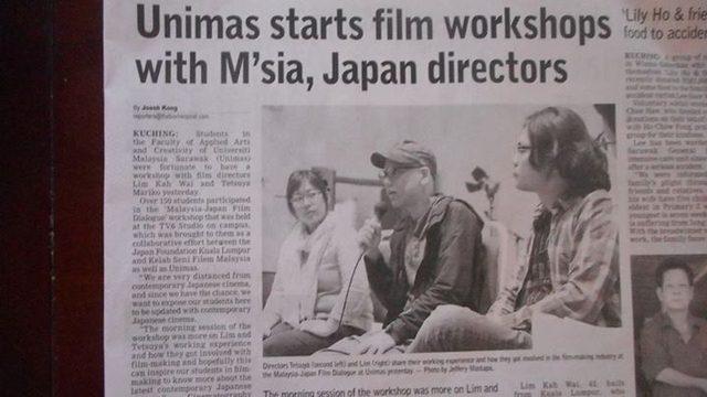 画像: ワークショップの様子が、マレーシアの新聞に掲載された。