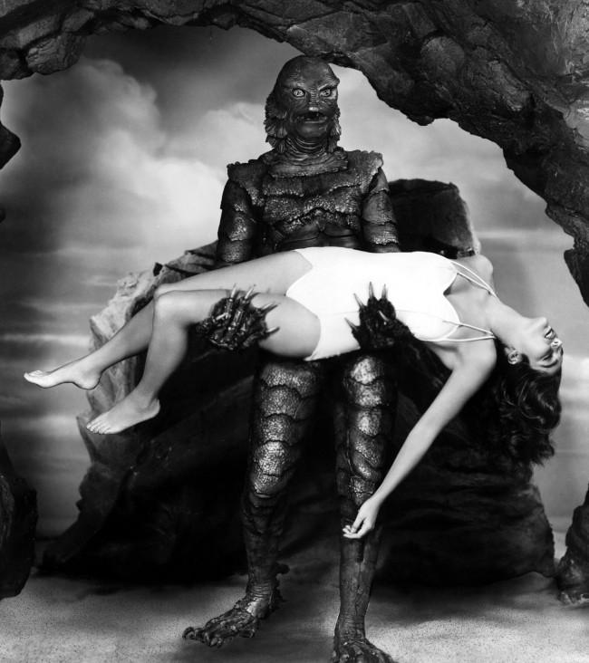 画像: (『大アマゾンの半魚人』1954年 場面写真)(C) AFLO http://www.crank-in.net/movie/news/36354