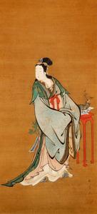 画像: 美人画で知られる江戸後期の浮世絵師、喜多川歌麿(?~1806)が、中国の仙女を描いた肉筆の浮世絵が見つかった。