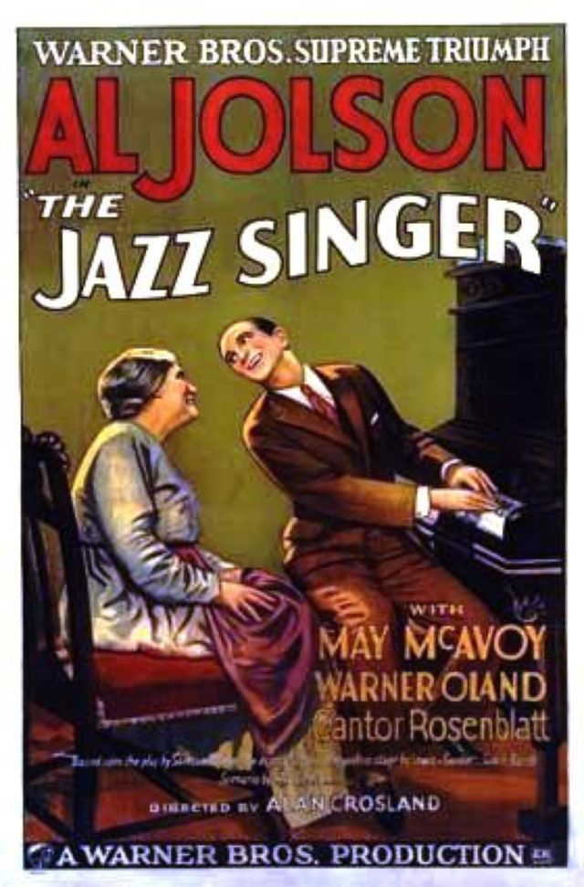 画像: THE JAZZ SINGER ポスター Wikipedia