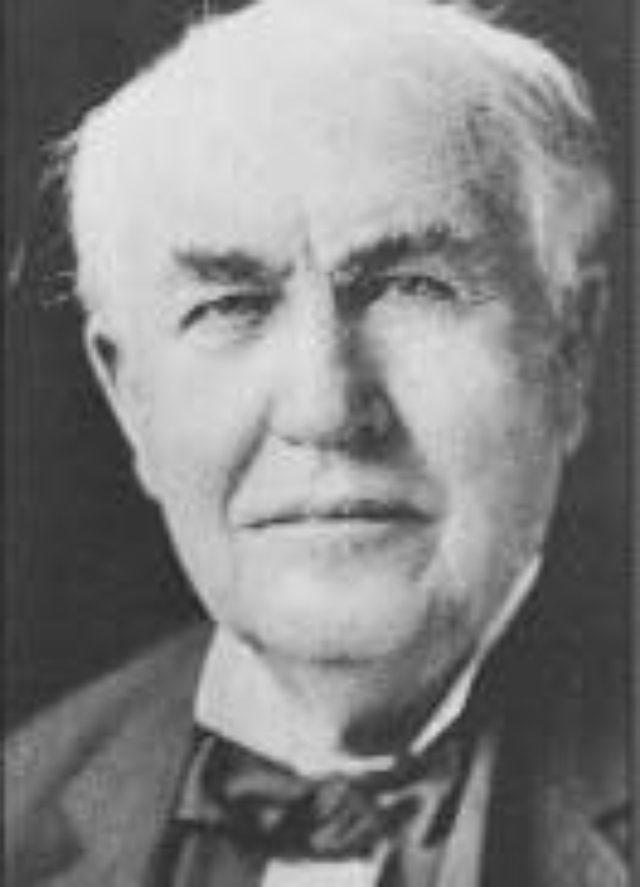 画像: アメリカでキネトスコープを発表したエジソン