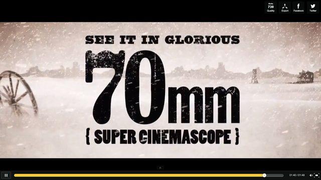 画像: タランティーノ監督がこだわる、70mmで初公開!新作『The Hateful Eight』
