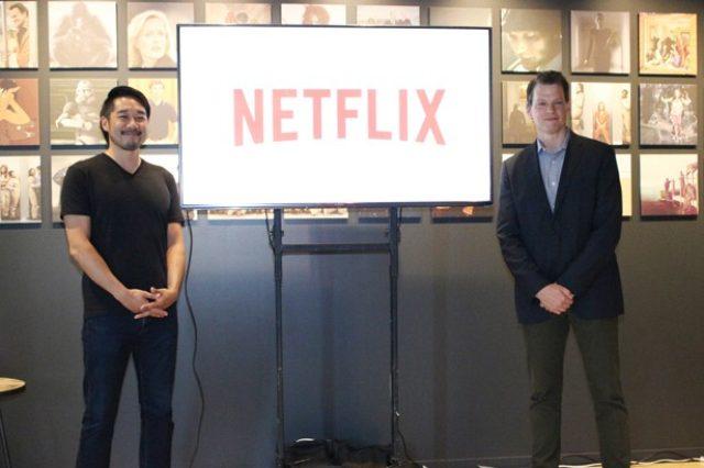 画像: 日本オフィスで挨拶したNetflixのグレゴリー・K・ピーターズ(代表取締役社長)と大崎貴之(副社長) http://news.walkerplus.com/article/60182/