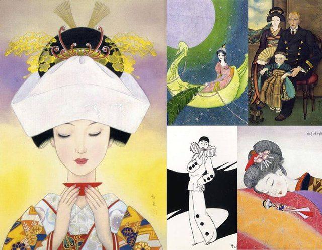 画像1: (C)蕗谷虹児(1898―1979)  cinefil.asia http://www.postalmuseum.jp/event/2014/01/fukiyakoji.html