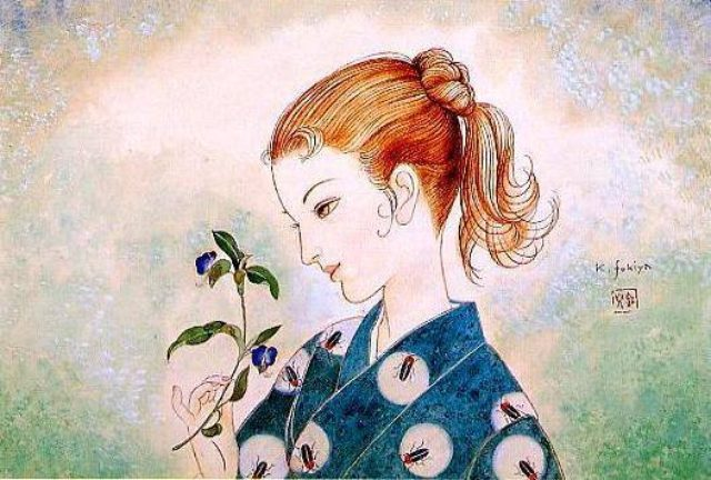 画像: (C)蕗谷虹児(1898―1979)  cinefil.asia  大正時代から昭和初期 http://www.postalmuseum.jp/event/2014/01/fukiyakoji.html